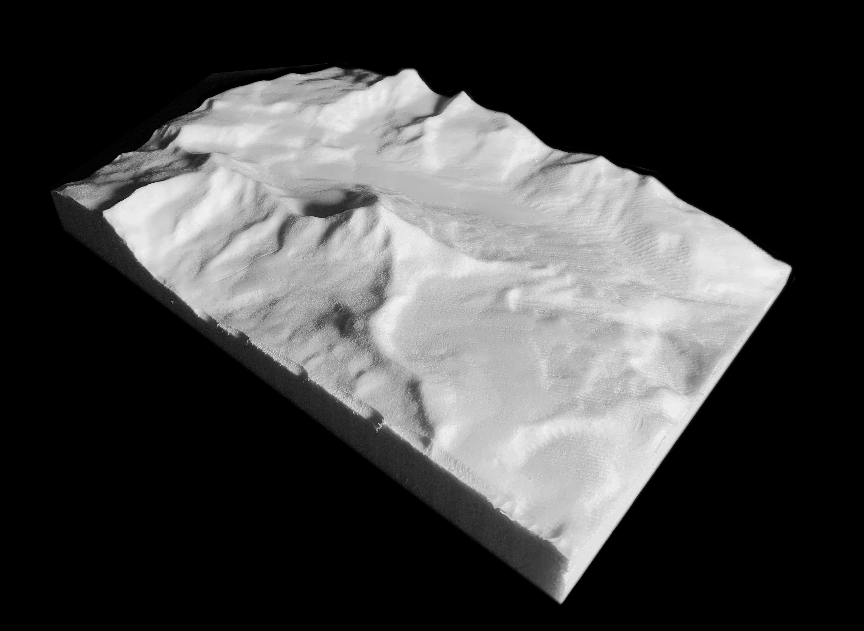 CNC machined Matterhorn topography using Fusion 360 - Jonathan Malott